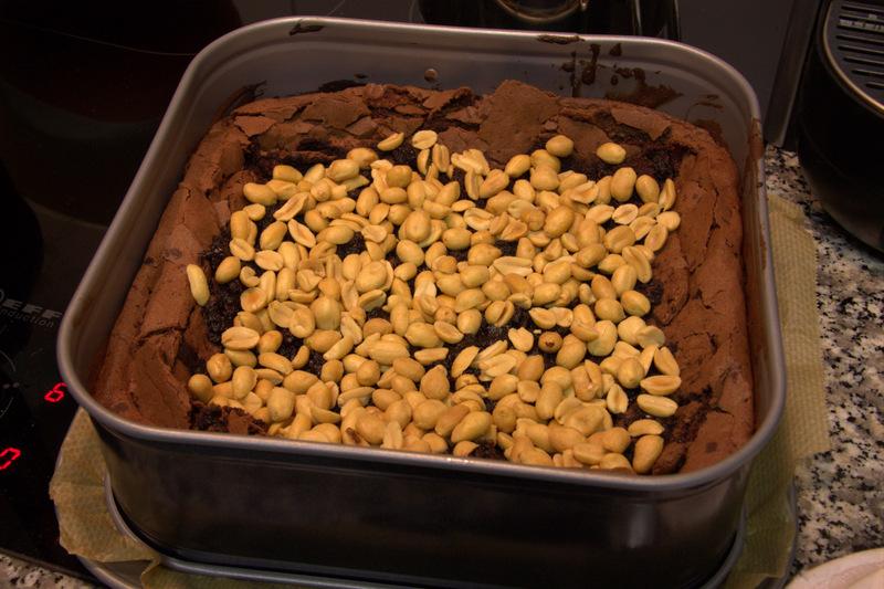 Kuchen mit Erdnüssen